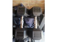Brand New in Box Pair of 15kg Hex Dumbbells by Fitbod TM
