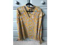 Brand new Primark yellow floral top size 16