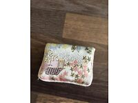 Silk little purse with popper fastening. Very detailed embroidery. 7.5 cm x 5 cm. New. Torquay. £2