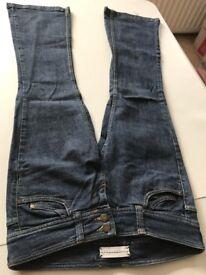 BARGAIN!!! Size 12! Designer Branded Quality!! TOPSHOP MOTO Black/Blue Ladies JEANS ONLY £10!!!