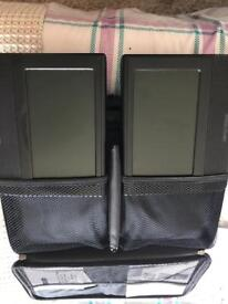 Nextbase twin 7inch Car DVD players in as new condition 240v and 12v