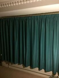 Teal Green Curtains