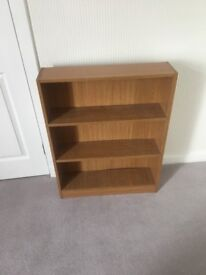 Light oak effect bookcase bookshelf 3 tier