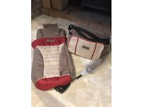 Baby changing bag, Parasol and Footmuff (unused)