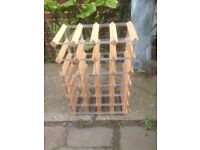 Wood and metal 24 bottle wine rack. Originally from Habitat and unmarked