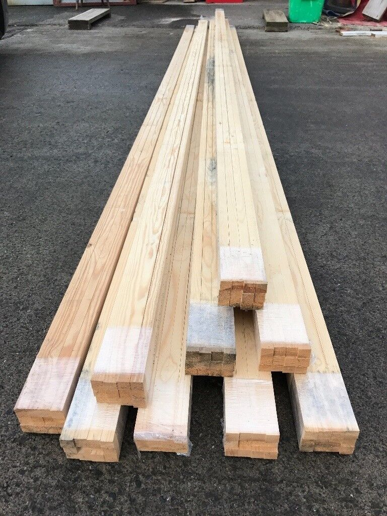 108 Lengths Planed Pine Redwood Timber 20mm x 20mm (486mtrs) Ideal for Trelliswork or Battons
