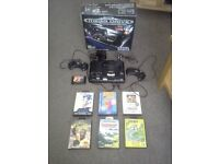 Boxed sega Megadrive 1 with 7 games and 2 controllers