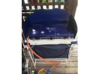 Camping kitchen, cooker and gas bottle