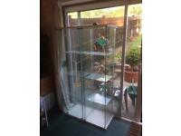 2 glass display cabinets in great condition -