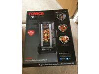 Tower 1500W vertical rotisserie grill