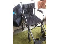 Wheelchair, folding, attendant propelled