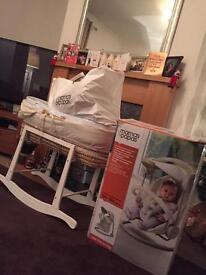 Baby Items Bundle Moses Basket Swing Mamas and Papas