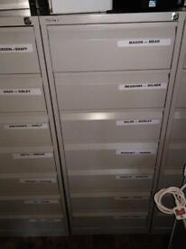 10 x Bisley 7 draw filing storage cabinet on a January sale just £25 each