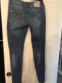 River island ripped jeans size 14