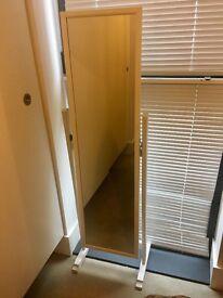 White free standing mirror