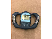 Battery powered body fat monitor in perfect working order