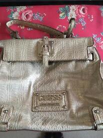 Silver Medium Guess Bag
