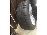 4x alloy wheels with tyres
