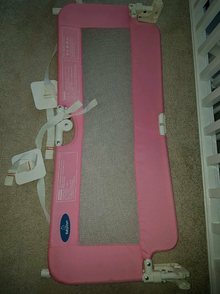 Babystart Bed rail in pink - perfect condition