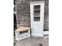 Painted pine TV unit and corner unit