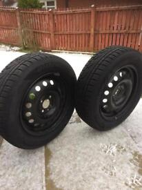 Steel Wheels with Snow Tyres 185/65 R15