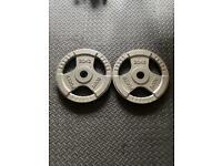 40kg cast iron tri grip olympic weights