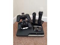 PS3 Slim 400Gb, Various controllers, 10 Games