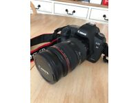 Canon 5D Mark II, Canon 24-70mm F2.8 lens with Hoya UV filter, Lens hood and more