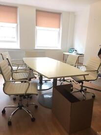 MEETING TABLE & 4 CHAIRS