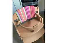 Baby Dan wooden high chair