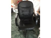 adjustable office chair (leather?)