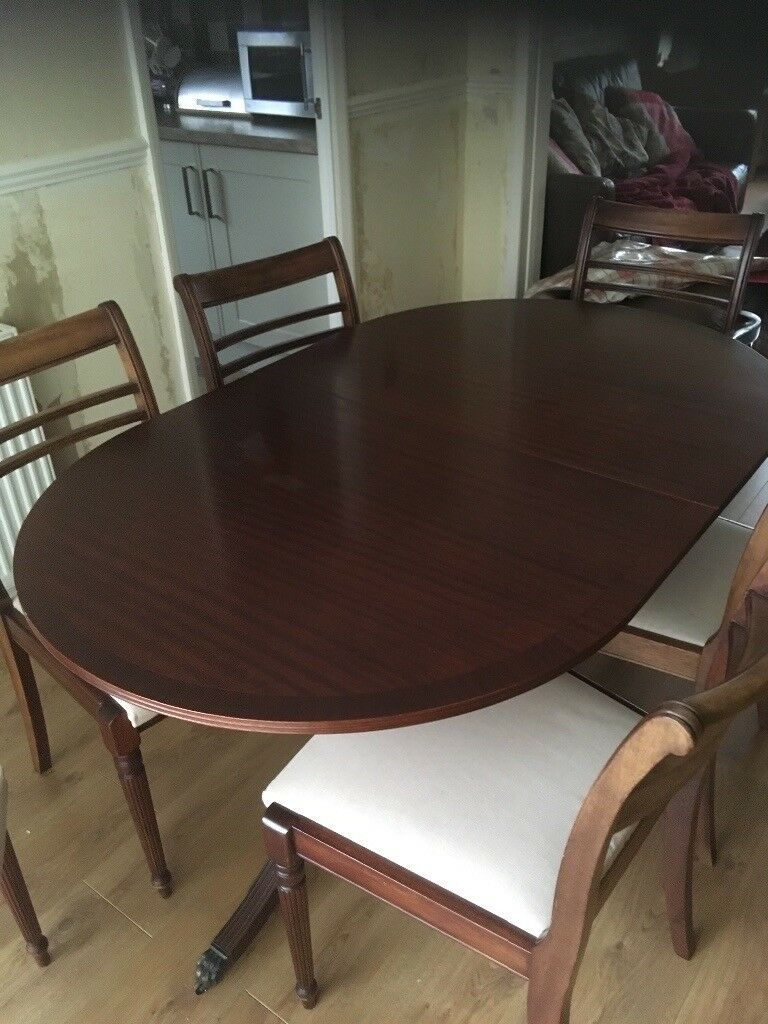 Brilliant Mahogany Extendable Dining Room Table 6 Chairs For Sale 100 Ono In Roslin Midlothian Gumtree Andrewgaddart Wooden Chair Designs For Living Room Andrewgaddartcom