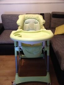 Foldable baby high chair recline highchair height adjustable feeding seat
