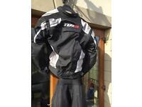 Tuzo motorcycle jacket and trousers