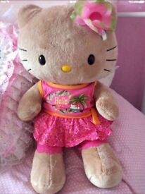 BUILD A BEAR HELLO KITTY WITH THREE PIECE OUTFIT