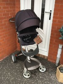Stokke Xplory + Maxi Cosi car seat + accessories