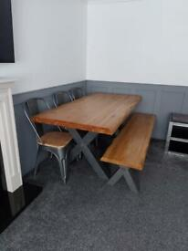 Oakland furniture table with chairs and bench