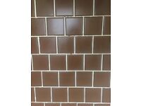 Brown ceramic tiles- NOW GONE