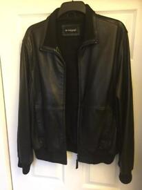 M&S men's leather bomber jacket. Size M