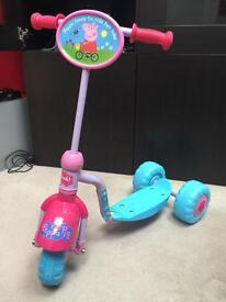 Excellent Condition Peppa Pig Tri Scooter