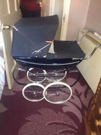 Silver cross doll buggy
