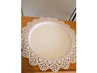 6 decorative ikea candle plates wedding centre piece