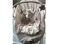 Moses basket and baby bouncer