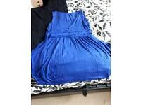 SIZE 24/26 BLUE SLEEVELESS DRESS