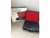 Boxed Crosley vinyl record player