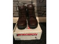 Precision brown ankle safety boot size 10