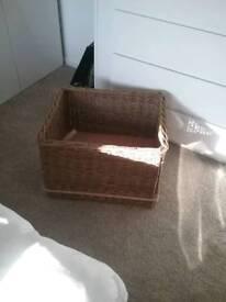 Wicker log basket £15