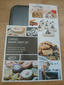 3 pieces baking sheet set