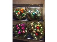 Light up Christmas baskets