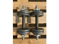 2 x 7.5kg Pro Power Adjustable Cast Iron Dumbbells (Delivery Available)